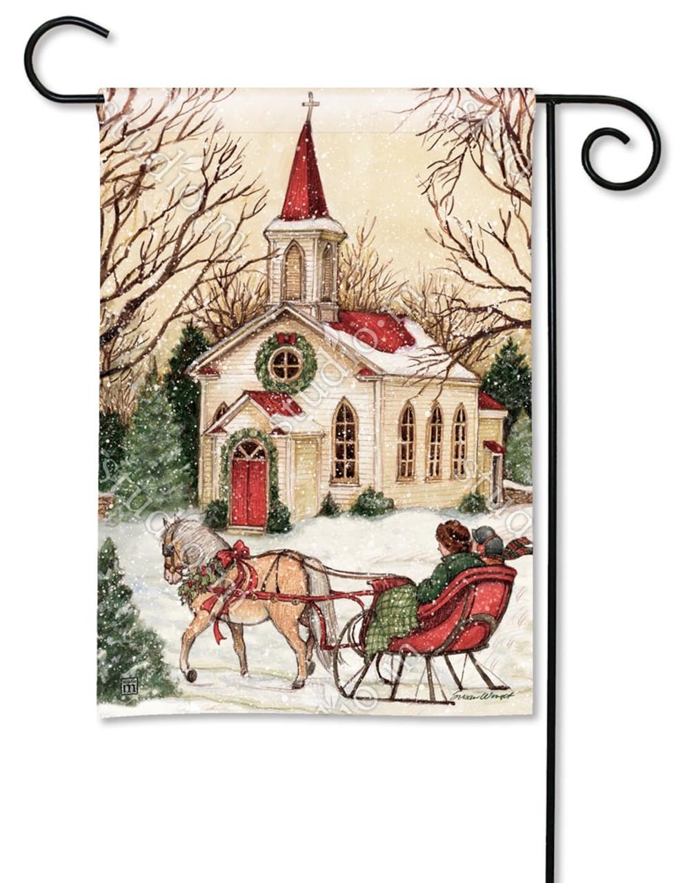 Religious Christmas Images.Religious Christmas Garden Flag 12 5 X 18 Breezeart