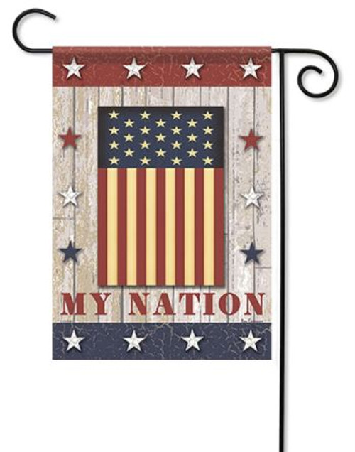 6b298a115b00 Unique USA Patriotic Garden Flags Add to Outdoor Yard Decorations