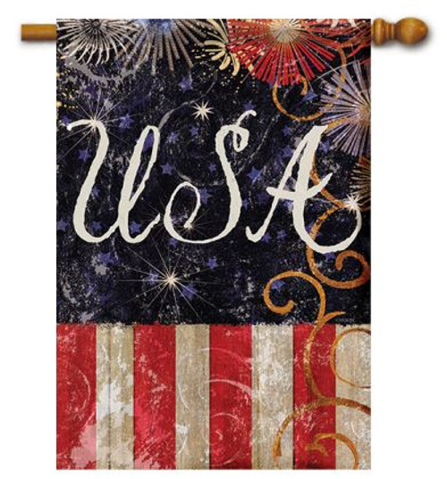 092c67fab7c5 USA Patriotic House Flags and Banners Add to Outdoor Decorations