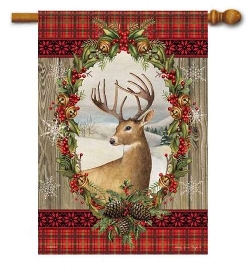 a7e6cdf2027b Holiday Deer House Flag - 28
