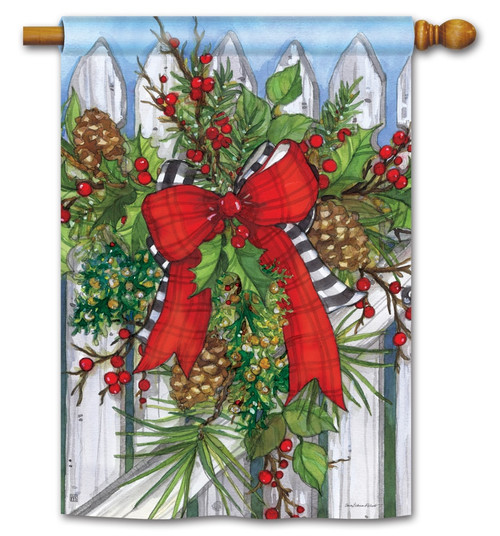 Holiday Garland House Flag - BreezeArt. BreezeArt Flags 5b877a8ee61f