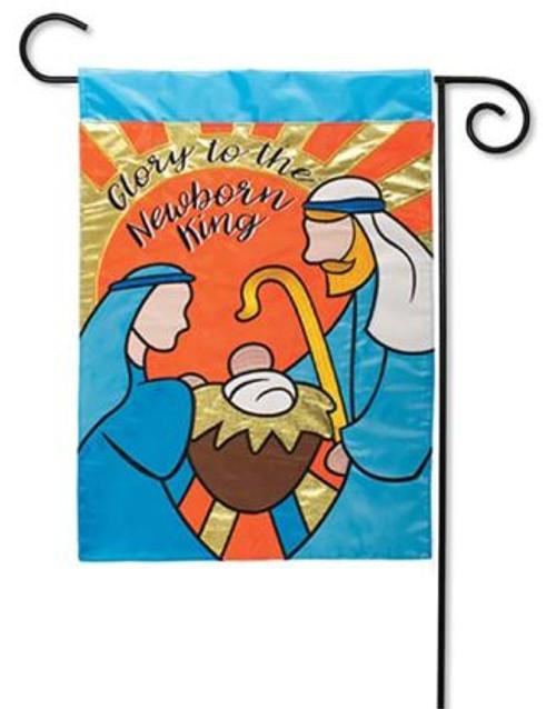 46f182e1e0d1 Newborn King Double Applique Garden Flag - 12.5
