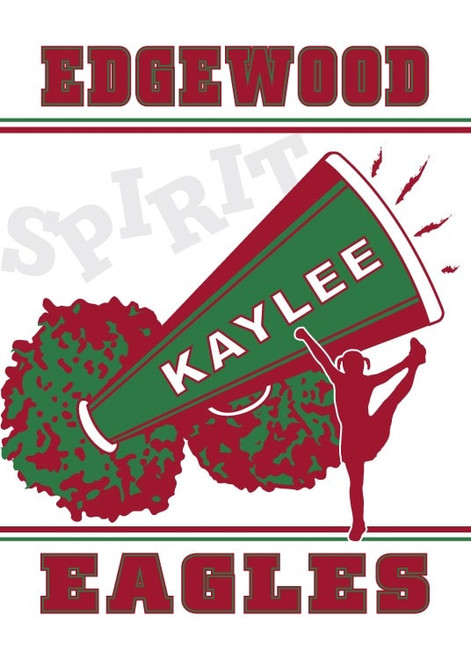 Custom Sport Flags with Text, School Colors & Photo