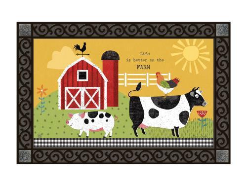 Cow Field Decorative Flag