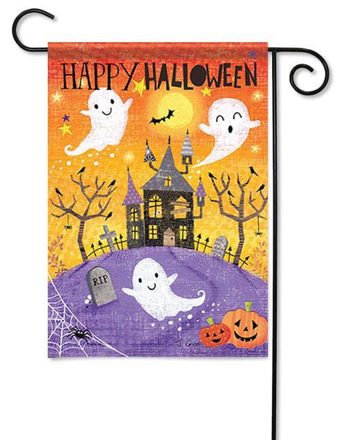 Evergreen Decorative Applique Garden Flag WELCOME MY PRETTIES Halloween