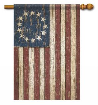 3daf841037e7 Primitive American Flag House Flag - Flag Trends Patriotic Flag