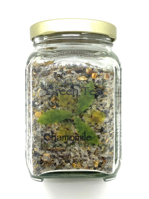 Green Tea Chamomile Devils Club Bath Salt Tea - 10oz