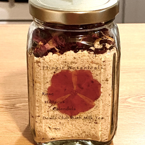 Devils Club Bath Milk - Calendula, Hibiscus, Rose