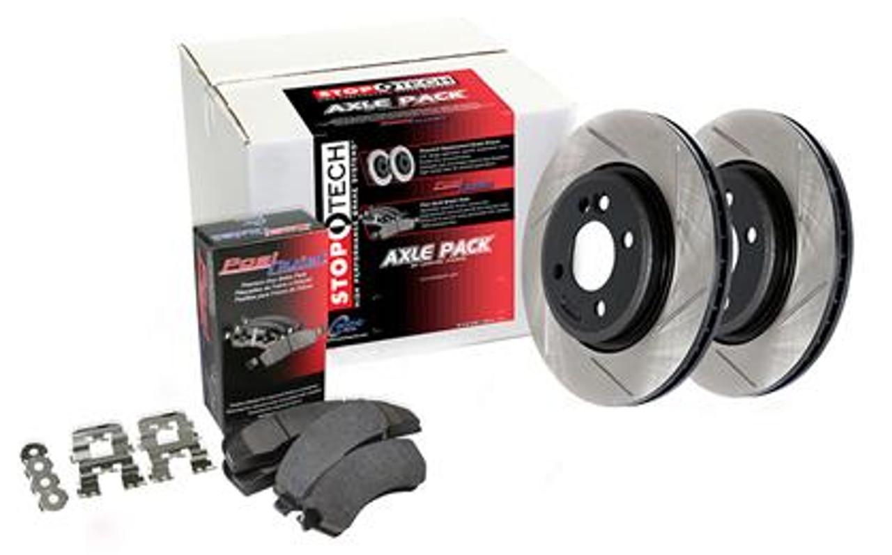 STOPTECH Performance Brake Rotors+Pads Kit for Honda 06-11 Civic Si 937.40005