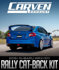 CARVEN EXHAUST RALLY CAT-BACK KIT: 2015+ SUBARU WRX/STI