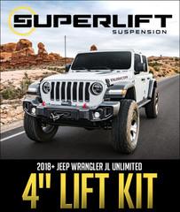"""SUPERLIFT SUSPENSION 4"""" LIFT KIT: 2018+ JEEP WRANGLER JL UNLIMITED"""