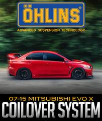 ÖHLINS RACING ROAD & TRACK COILOVER SYSTEM: 2007–2015 MITSUBISHI EVO X