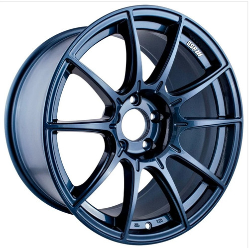 SSR GTX01 19x9.5 5x120 38mm Offset Blue Gunmetal Wheel