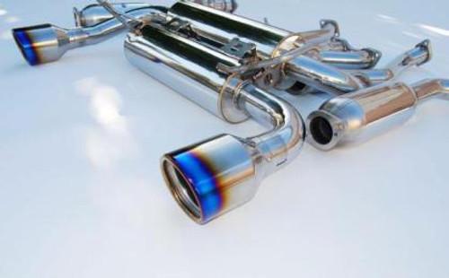 Invidia Gemini Rolled Titanium Tip Cat-back Exhaust Nissan 350z 03-08