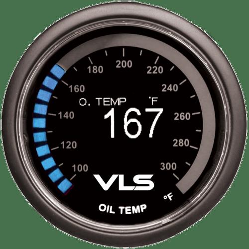Revel VLS 52mm 100-300 Deg F Digital OLED Oil Temperature Gauge