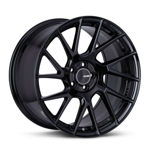Enkei TM7 18x9.5 5x114.3 38mm Offset 72.6mm Bore Gloss Black Wheel