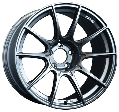 SSR GTX01 18x9.5 5x100 40mm Offset Dark Silver Wheel