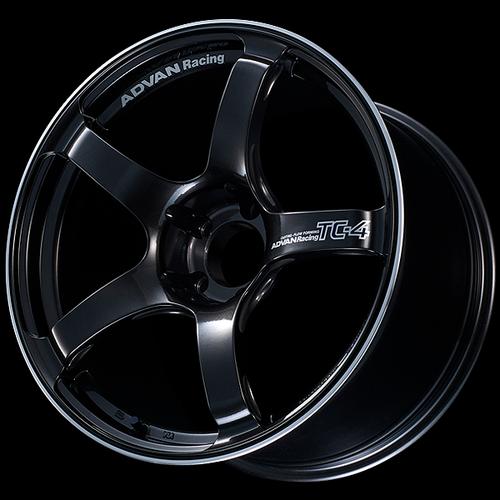 Advan TC4 18x9.5 +12 5-114.3 Racing Black Gunmetallic and Ring Wheel