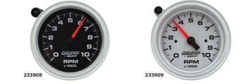 AutoMeter Tachometer Gauge 10K RPM 3 3/4in Pedestal w/Ext. Shift-Light -