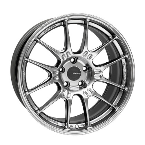 Enkei GTC02 18x9 5x112 25mm Offset 66.5mm Bore Hyper Silver Wheel