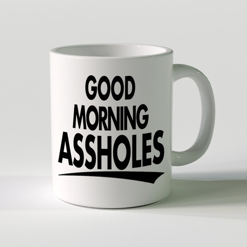 Good Morning Assholes Mug