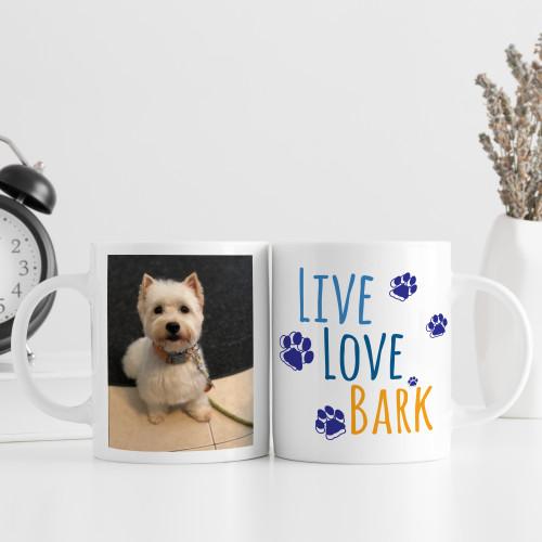Custom Live Love Bark Dog Mug
