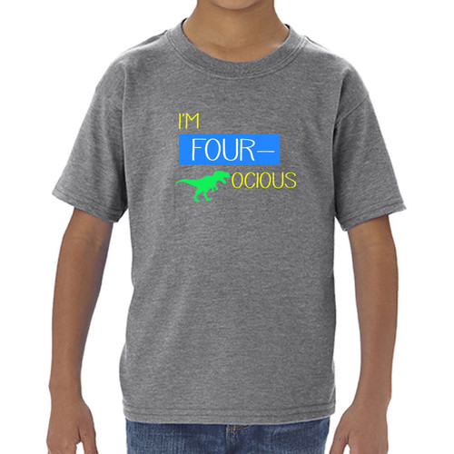 I'm 'Four'ocious Dinosaur Toddler Graphic Tee