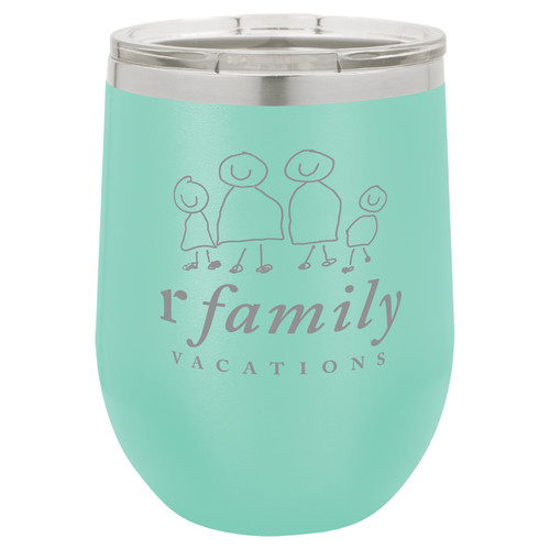 rFamily Vacations 12oz Wine Tumbler