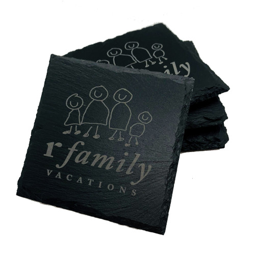 rFamily Vacations Slate Coaster Set (4)