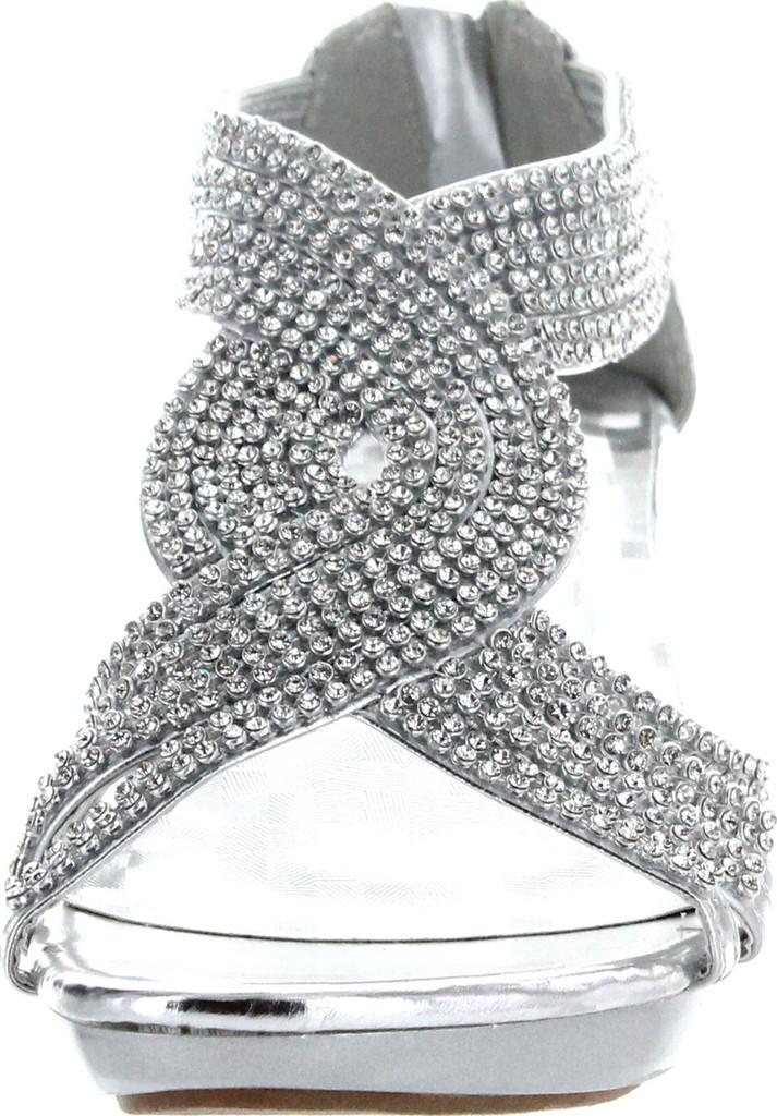 1e18d447aa Delicacy Womens Angel-37A Open Toe Med Heel Wedding Dress Sandal Shoes