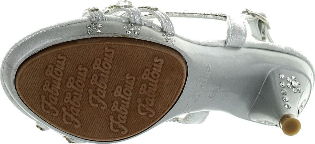 f992de4f1743 Fabulous Kids Teresa 86K Little Girls Rhinestone Pageant Heels Silver -  ShoeCenter.com