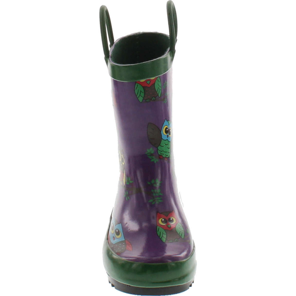 Foxfire For Kids 600-74 Purple With Owls Rubber Boots