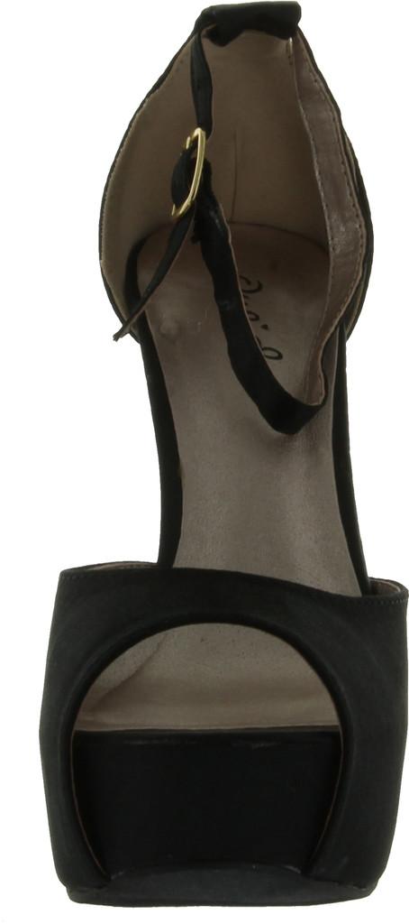 Qupid Chance-06 Jewel Rhinestone Platform High Heel Ankle Strap Party Sandal