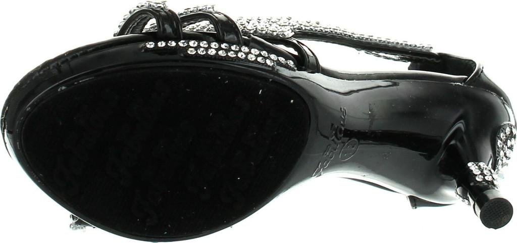 Forever Glamour-36K Little Girls Rhinestone Heel Platform Pageant Dress Sandals