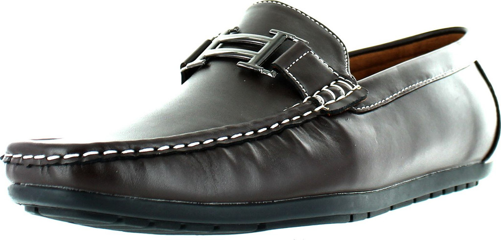 Reverse Mens F41082 European Style Casual Loafers With Chain