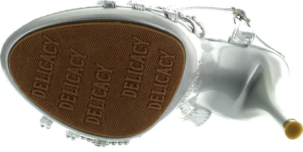0e6c6d4ca3b Delicacy Womens Essential74 Open Toe Rhinestone Strappy Stiletto High Heel  Sandal Shoes