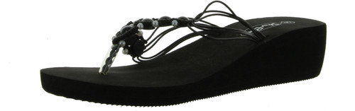 Sunville Womens Fashion Beaded Wedge Sandals