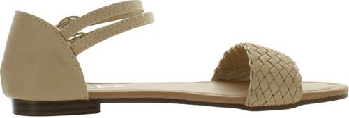 Bellamarie Tevo-8 Womens Braided Ankle Strap Buckle Basic Comfort Flat Sandal
