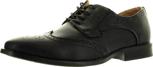 Coronado Mens Dress Shoe Kevin-2 Classic Oxford Fashion Wing Tip Style Leather Lining