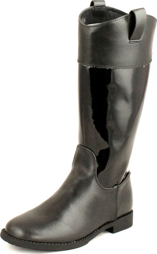 Cole Haan Girls Juniors Nancy Tall Fashion Riding Patent Combo Leather Boots