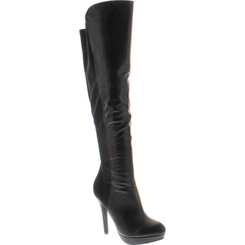 Delicious Women's Venga Faux Leather Over The Knee High Heel Boots