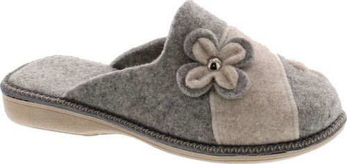 Sc Home Collection Womens 12217 Natural Wool Flower Cozy House Slippers Made In Europe