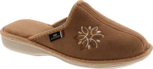 Sc Home Collection Womens 12417 Plush Embroidered Cozy House Slippers Made In Europe