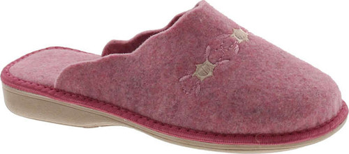 Sc Home Collection Womens 12317 Natural Wool Embroidered Cozy House Slippers Made In Europe