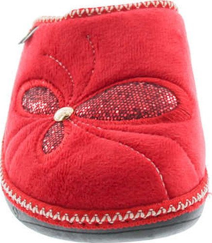 Sc Home Collection Womens 13117 Plush Embroidered Cozy House Slippers Made In Europe