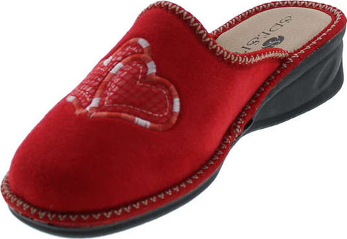 Sc Home Collection Womens 13517 Plush Heart Cozy House Slippers Made In Europe
