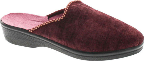 Sc Home Collection Womens 168 Closed Toe Low Wedge House Slippers Made In Europe