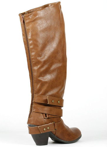 Qupid Priority-32 Strappy Knee High Boot