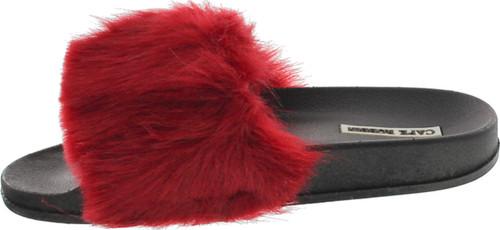 Cape Robbin Moira-5 Women Flip Flop Faux Fuzzy Fur Slide Slip On Flat Sandal Shoe Slipper