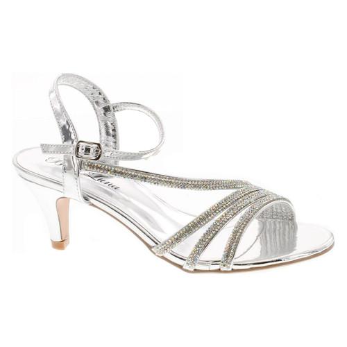 Static Footwear Womens Open Toe Low Heel Wedding Prom Evening Dressy Sandal Shoes